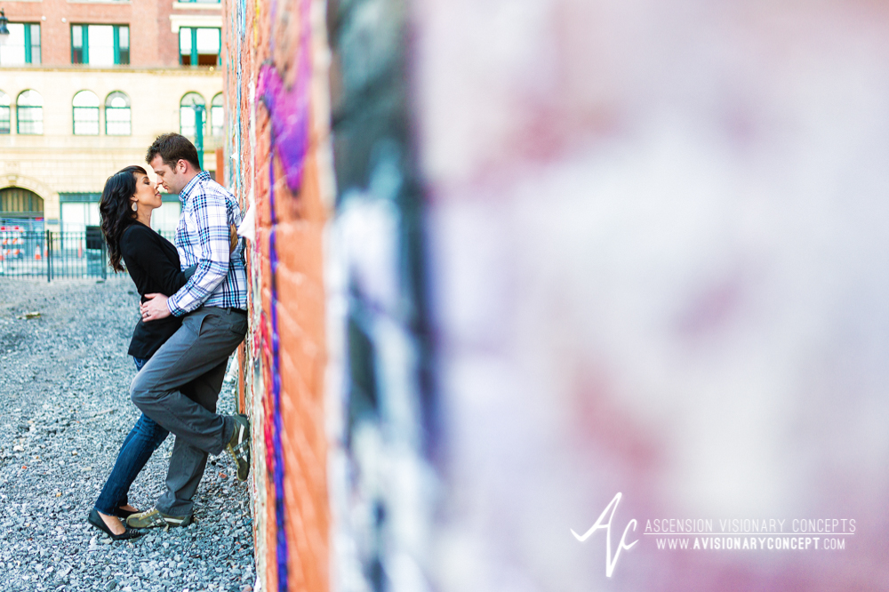 Buffalo Engagement Photography Urban City Anniversary Photography 017 Cityscape Graffiti Wall.jpg