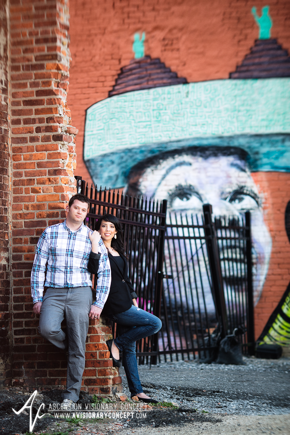 Buffalo Engagement Photography Urban City Anniversary Photography 019 Cityscape Graffiti Wall.jpg