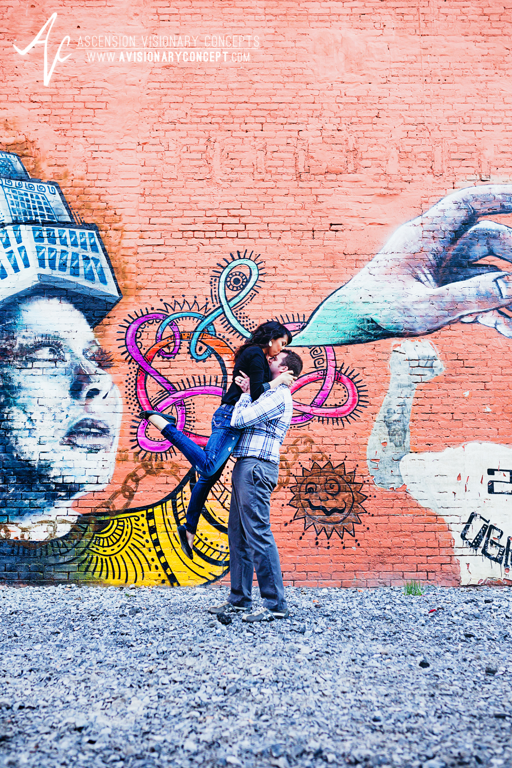 Buffalo Engagement Photography Urban City Anniversary Photography 018b Cityscape Graffiti Wall.jpg