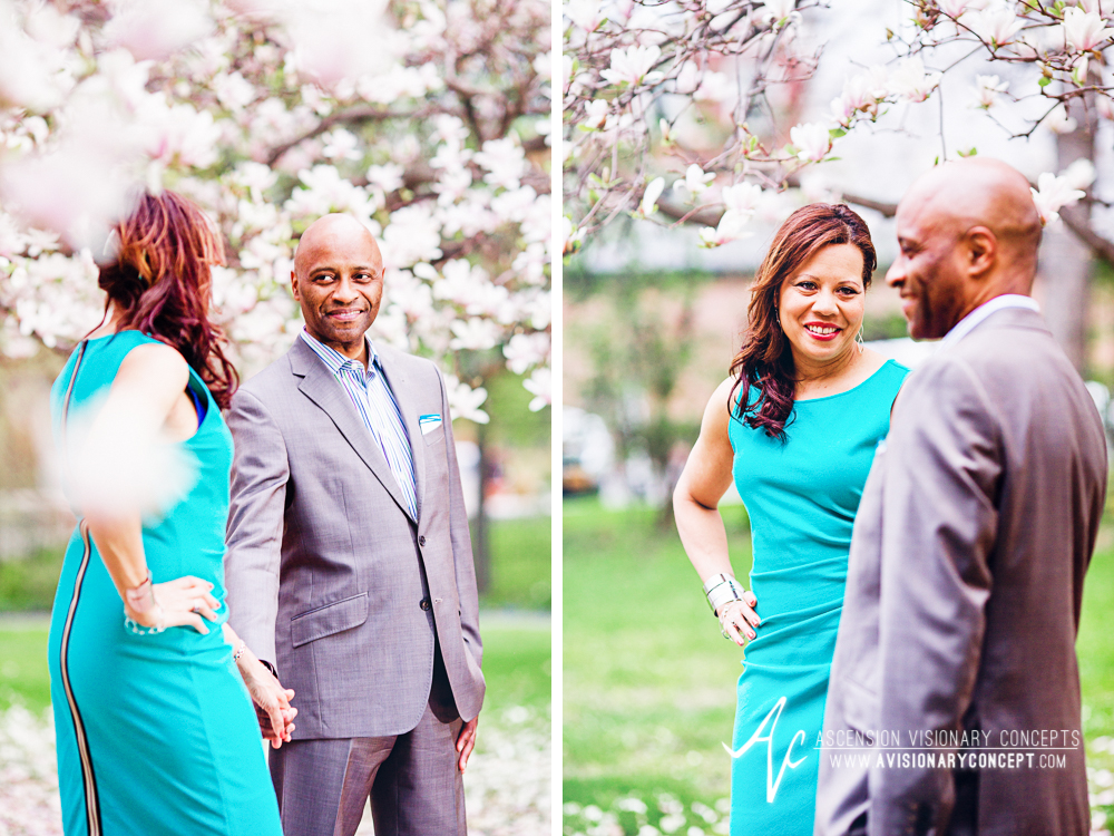 Buffalo Rochester Engagement Photography Spring Photography 004 Magnolia Trees Pink Blooms.jpg