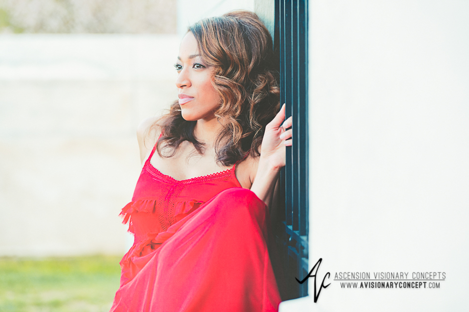 Buffalo Fashion Photography Buffalo Portrait Photography Spring Shoot Buffalo HIstory Museum 002 Flowy Red Dress African American Model.jpg