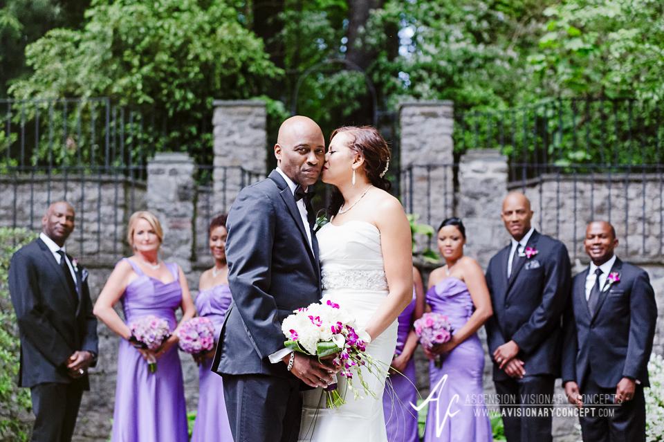 Rochester Wedding Photography 019 - Warner Castle Highland Park Sunken Garden Bridal Party.jpg