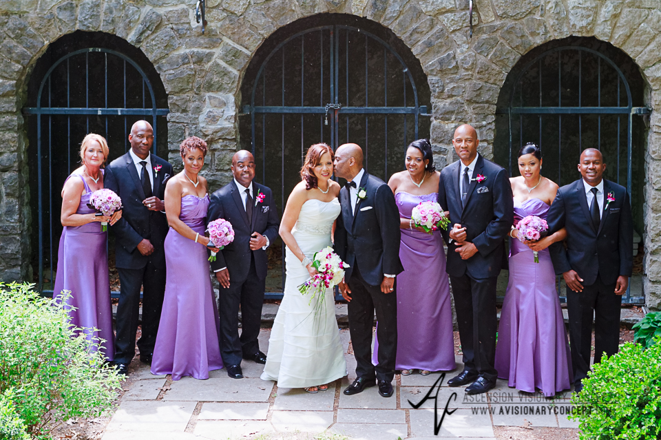 Rochester Wedding Photography 021 - Warner Castle Highland Park Sunken Garden Bridal Party.jpg