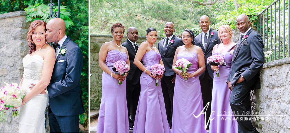 Rochester Wedding Photography 022 - Warner Castle Highland Park Sunken Garden Bridal Party.jpg