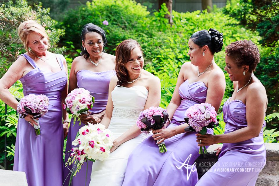 Rochester Wedding Photography 024 - Warner Castle Highland Park Sunken Garden Bride Bridesmaids.jpg