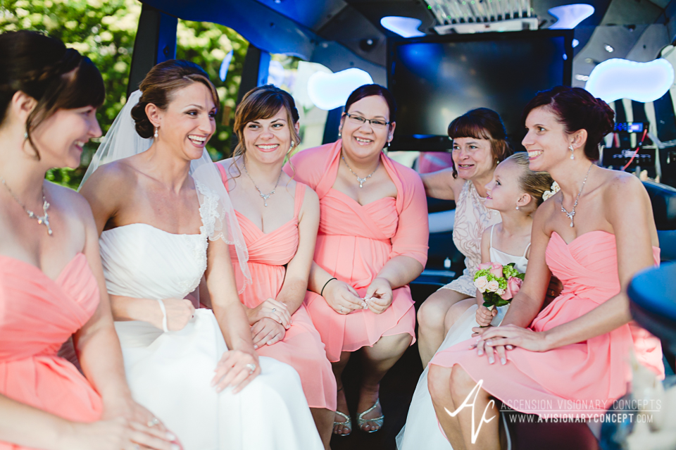 Buffalo Wedding Photography 02 Diamond Hawk Wedding - Bride Bridal Party Limo.jpg