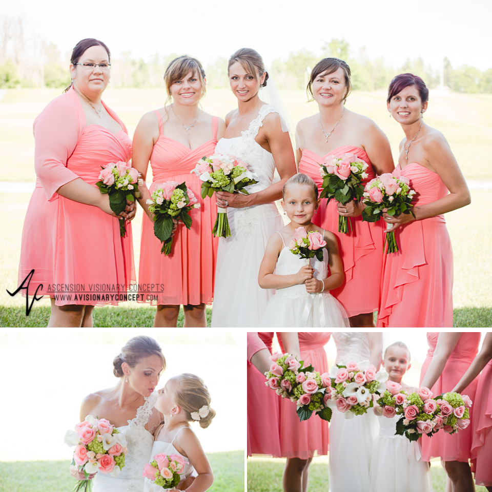 Buffalo Wedding Photography 18 Diamond Hawk Golf Course - Bride Bridesmaids Flowergirl Bridal Party Bouquets.jpg