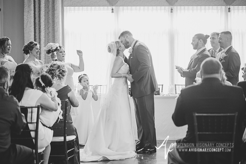 Buffalo Wedding Photography Avanti Mansion 32 Bride Groom First Kiss.jpg