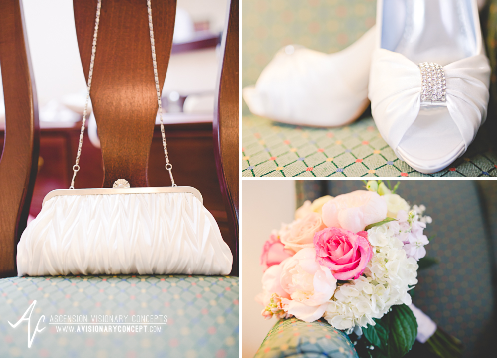 Buffalo Wedding Photography Lockport Locks Wedding 05 - Bride Details Bouquet Purse Shoes.jpg