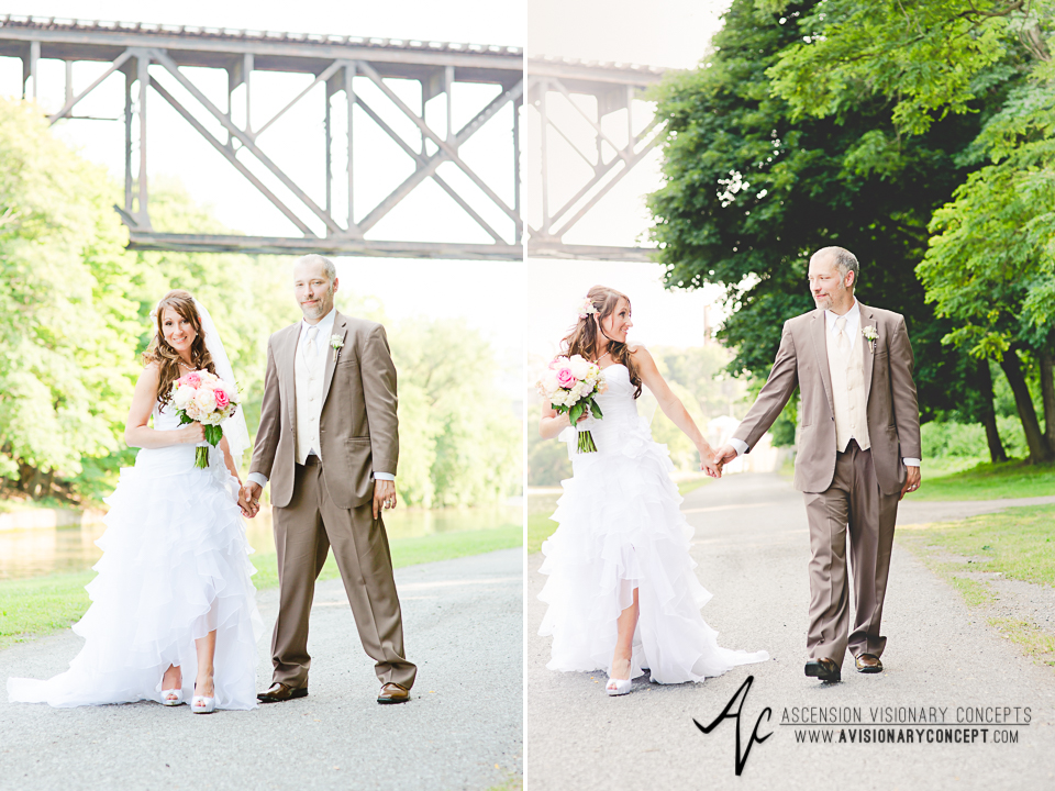 Buffalo Wedding Photography Lockport Locks Wedding 36 - Bride Groom Upson Park Upside Down Bridge.jpg