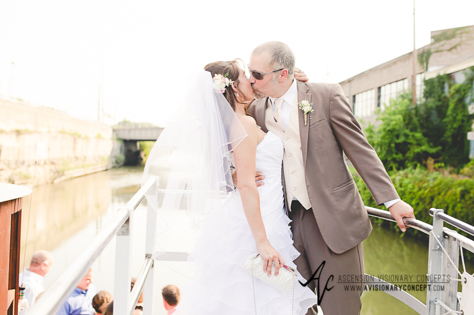 Buffalo Wedding Photography Lockport Locks Wedding 41 - Lockview V Boat Sunset Cruise Bride and Groom.jpg