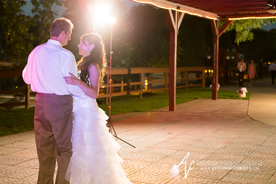 Buffalo Wedding Photography Lockport Locks Wedding 58 - Canalside Grove Outdoor Pavilion Wedding Reception Father Daughter Dance.jpg