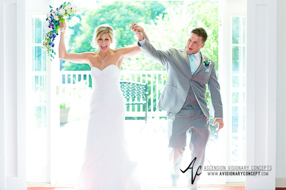 Rochester Wedding Photography Plantation Party House Spencerport Wedding 047 - Reception Bride Groom Entrance.jpg