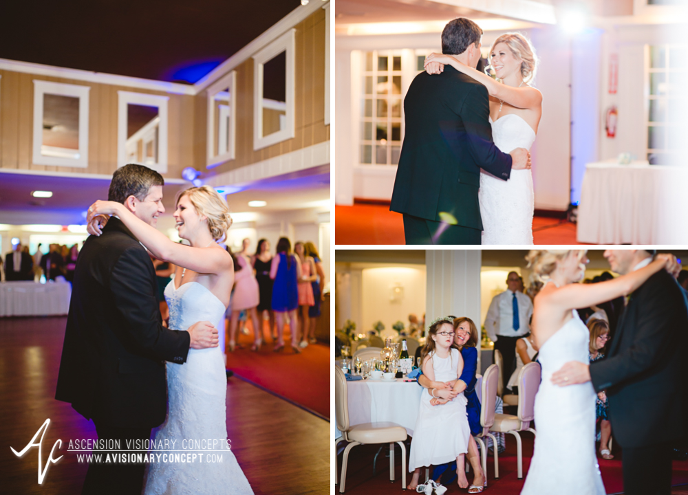 Rochester Wedding Photography Plantation Party House Spencerport Wedding 057 - Reception Father Daughter Dance.jpg