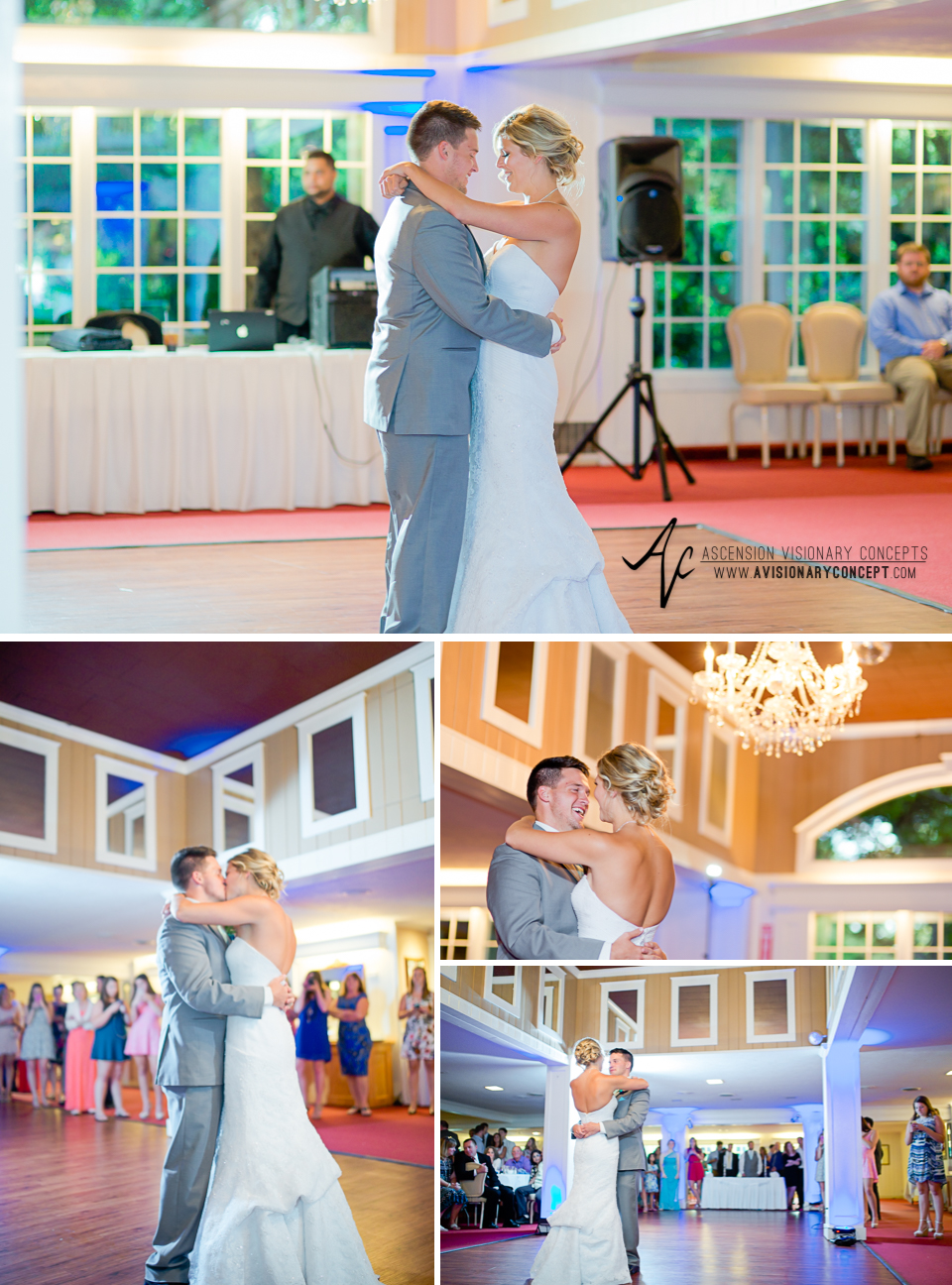 Rochester Wedding Photography Plantation Party House Spencerport Wedding 056 - Reception Bride Groom First Dance.jpg