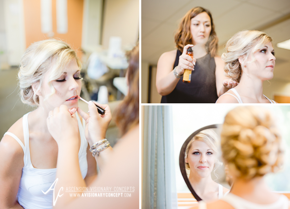 Rochester Wedding Photography Plantation Party House Spencerport Wedding 004 - Bride Getting Ready Hair Makeup Blonde Blue Eyes.jpg
