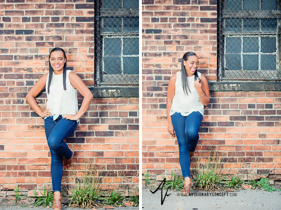 Buffalo Senior Photography Class of 2016 002 Downtown Buffalo Cobblestone District African American Teenage Girl Crochet Blouse Blue Jeans Hazel Eyes.jpg
