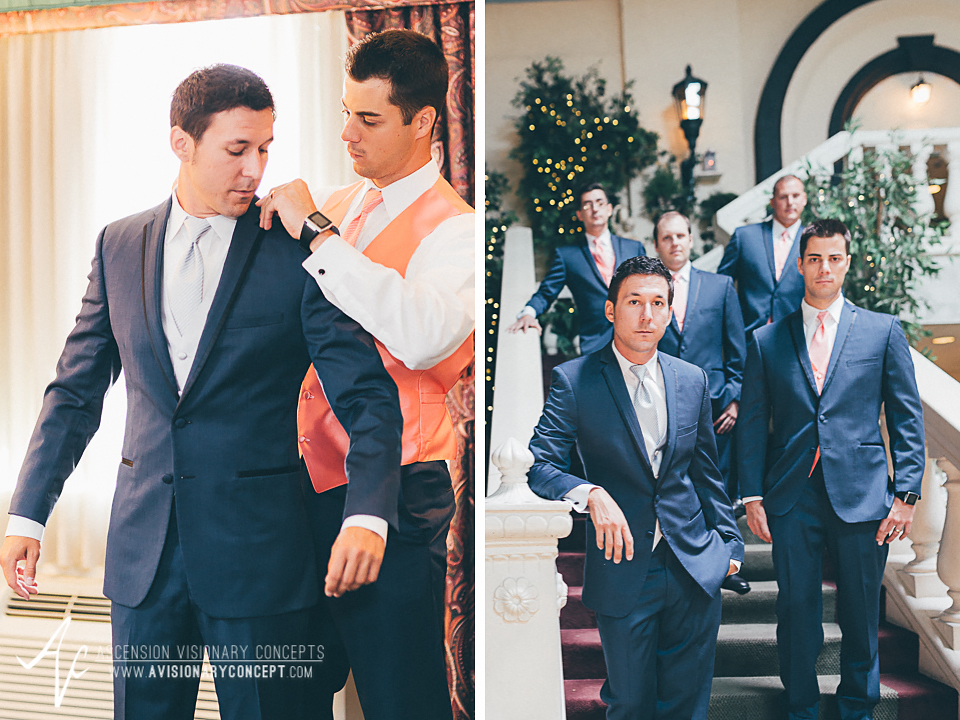 Buffalo Wedding Photography Orchard Park Country Club 004 - Salvatore's Garden Place Hotel Groom Getting Ready Groomsmen Portrait.jpg