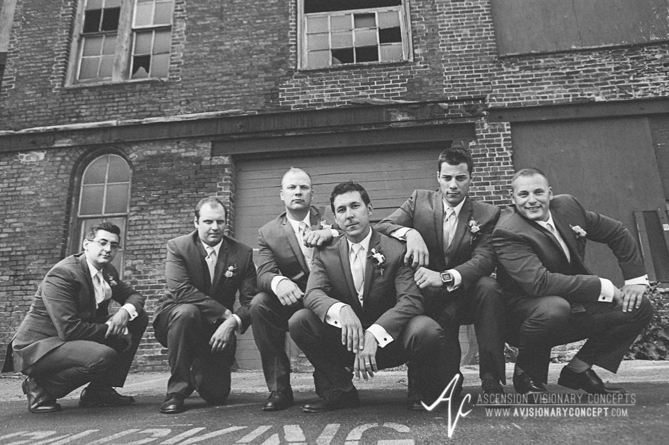 Buffalo Wedding Photography Orchard Park Country Club 033 - Urban City Downtown Bridal Party Buffalo Cobblestone District.jpg