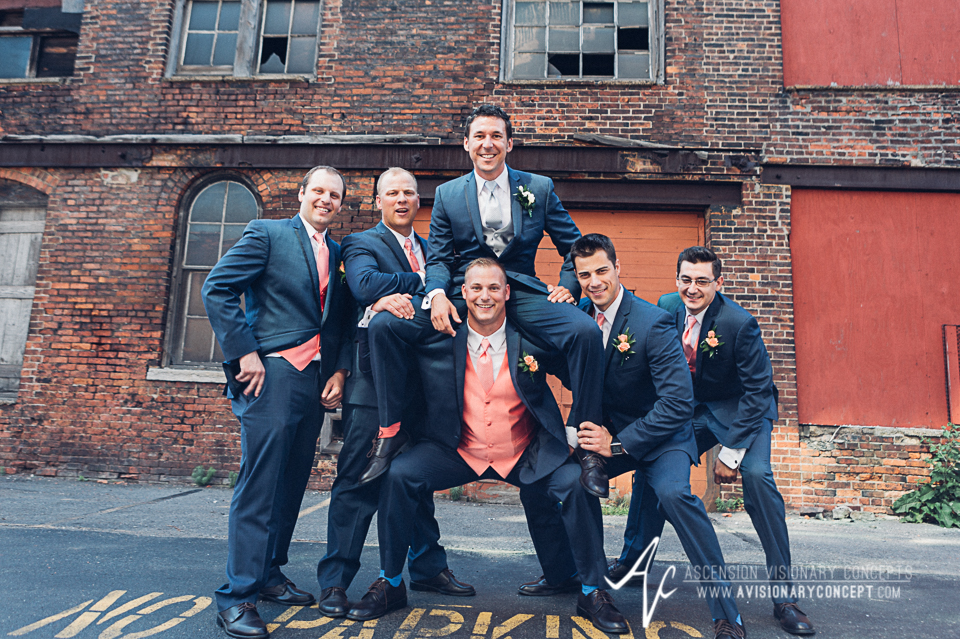 Buffalo Wedding Photography Orchard Park Country Club 034 - Urban City Downtown Bridal Party Buffalo Cobblestone District.jpg