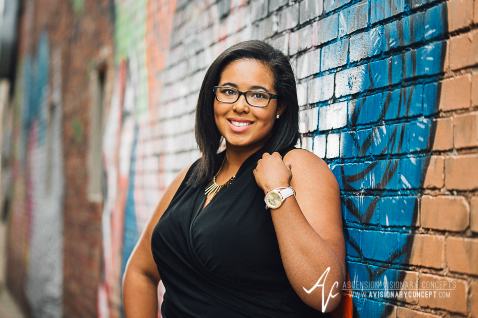 Buffalo Senior Photography 08 - Class of 2015 Summer Photography Downtown Buffalo Graffiti Wall Photography African American Teenage Girl.jpg