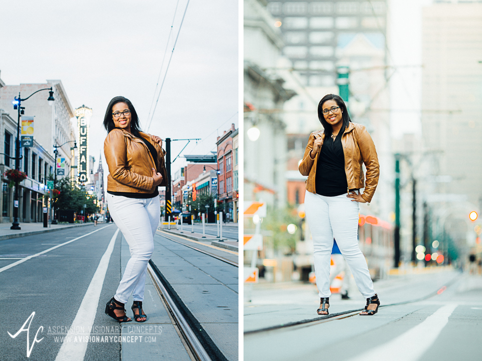 Buffalo Senior Photography 16 - Class of 2015 Summer Photography Downtown Buffalo African American Teenage Girl.jpg