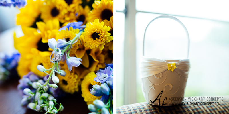 Buffalo Wedding Photography Spring Lake Winery 002 - Bride Details Sunflower Bouquet.jpg