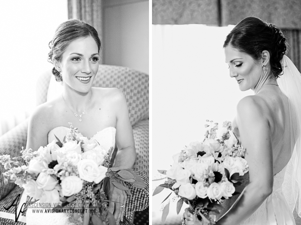 Buffalo Wedding Photography Spring Lake Winery 020 - Beautiful Bride Portraits Brunette Black and White BNW B&W.jpg