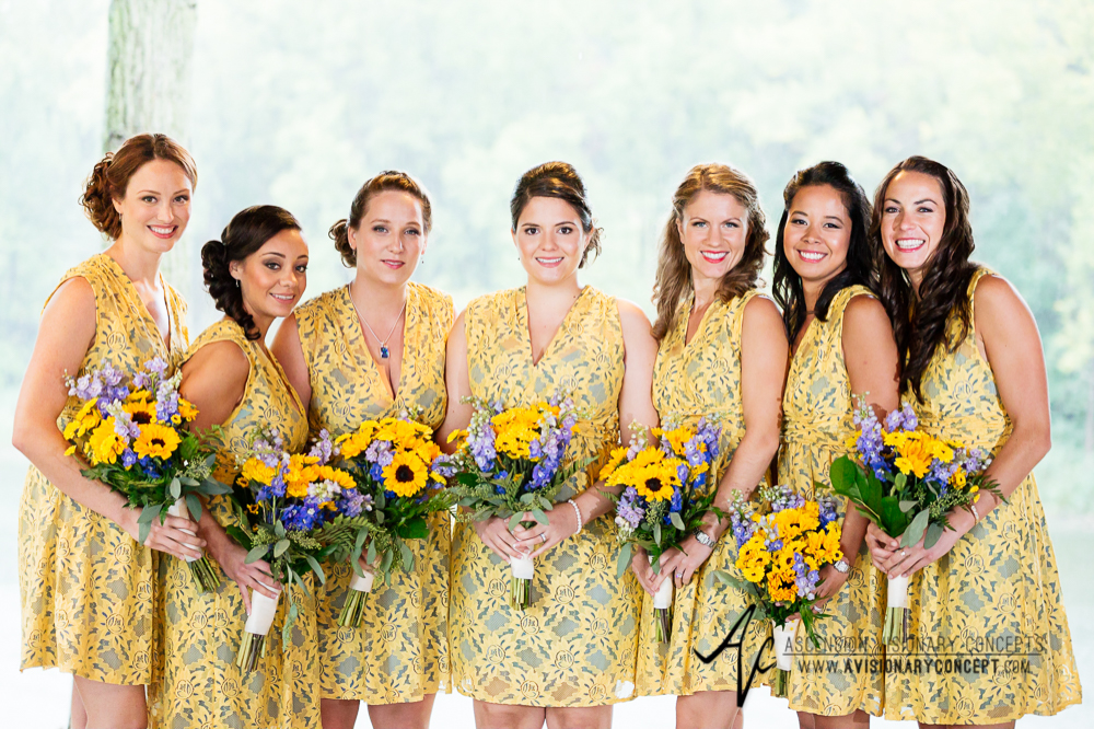 Buffalo Wedding Photography Spring Lake Winery 035b - Bridesmaids Sunflower Bouquet.jpg