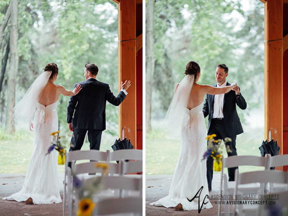 Buffalo Wedding Photography Spring Lake Winery 038 - Bride Groom First Looks Rainy Wedding Day.jpg