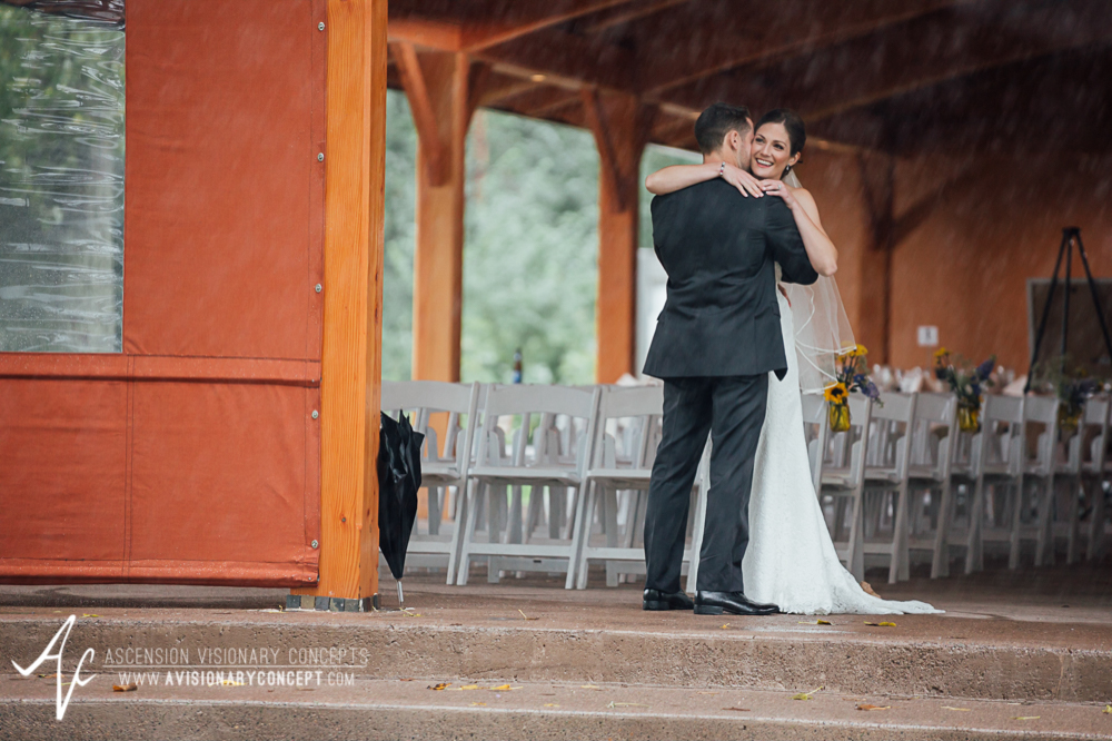 Buffalo Wedding Photography Spring Lake Winery 040 - Bride Groom First Looks Rainy Wedding Day.jpg