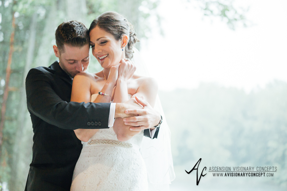 Buffalo Wedding Photography Spring Lake Winery 048 - Bride Groom First Portraits Rainy Wedding Day.jpg