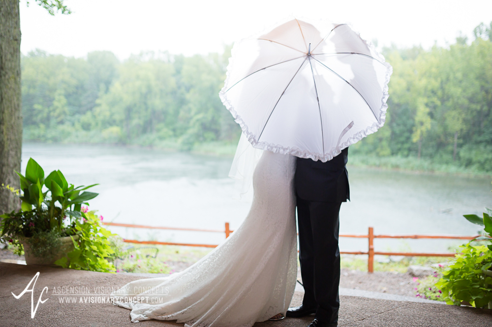 Buffalo Wedding Photography Spring Lake Winery 051 - Bride Groom First Portraits Rainy Wedding Day.jpg