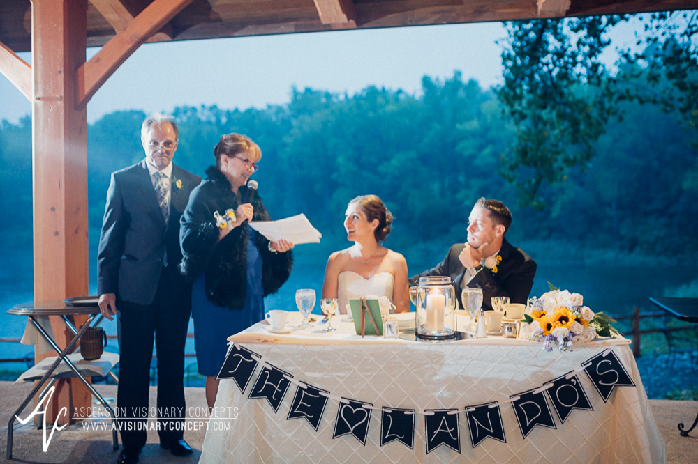 Buffalo Wedding Photography Spring Lake Winery 078 - Wedding Reception Bride Groom Parent Speeches.jpg