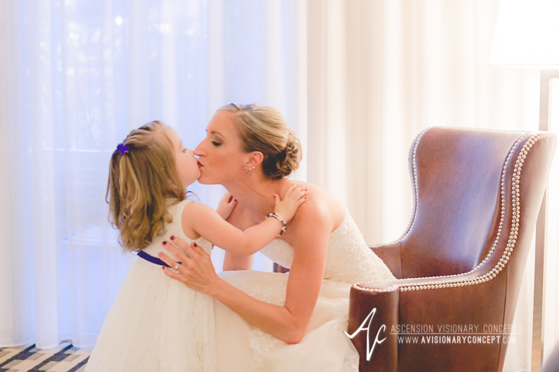 Buffalo Wedding Photography The Columns Banquets Millennium Hotel 015 - Bride and Daughter of Bride Flowergirl.jpg