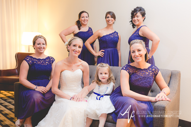 Buffalo Wedding Photography The Columns Banquets Millennium Hotel 015b - Bride and Bridesmaids Amethyst Dresses.jpg