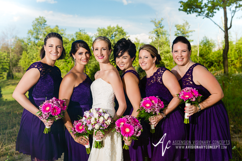 Buffalo Wedding Photography The Columns Banquets Millennium Hotel 035 - Bridal Birdesmaids Amethyst Gowns.jpg