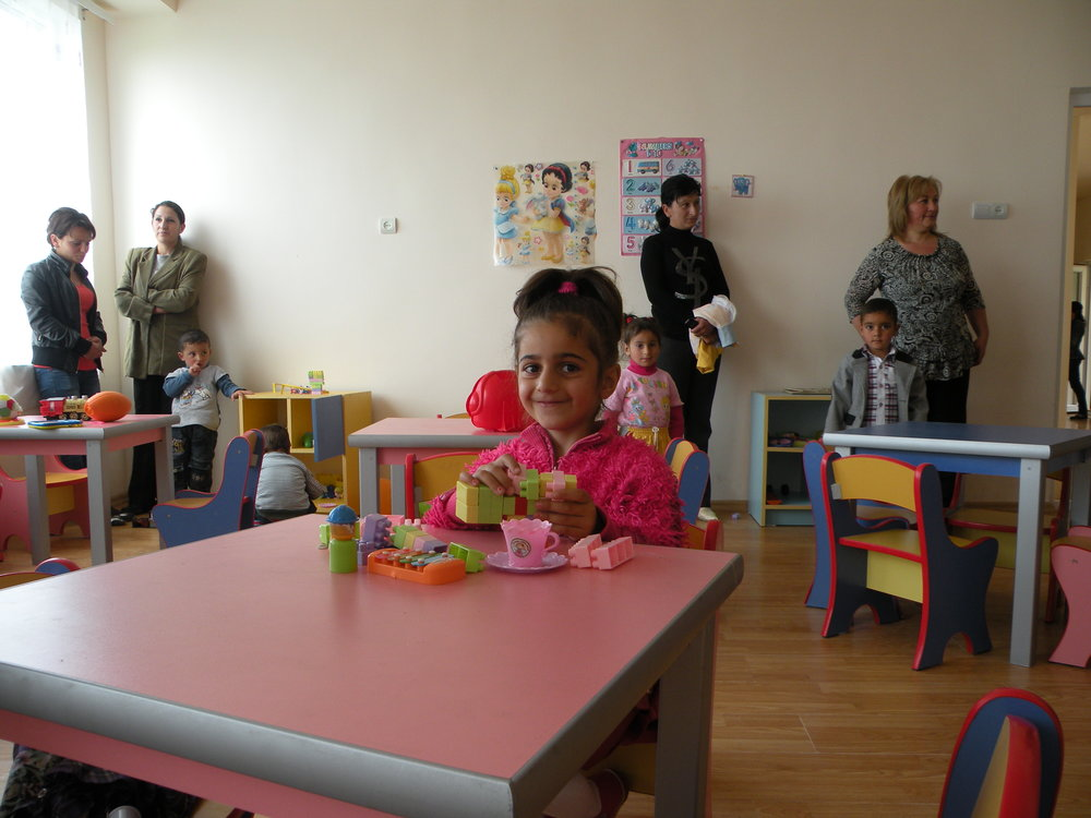 A student at the new Pambak Kindergarten.