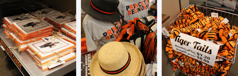 A spirited assortment of merchandise at 2014 Princeton Reunions.