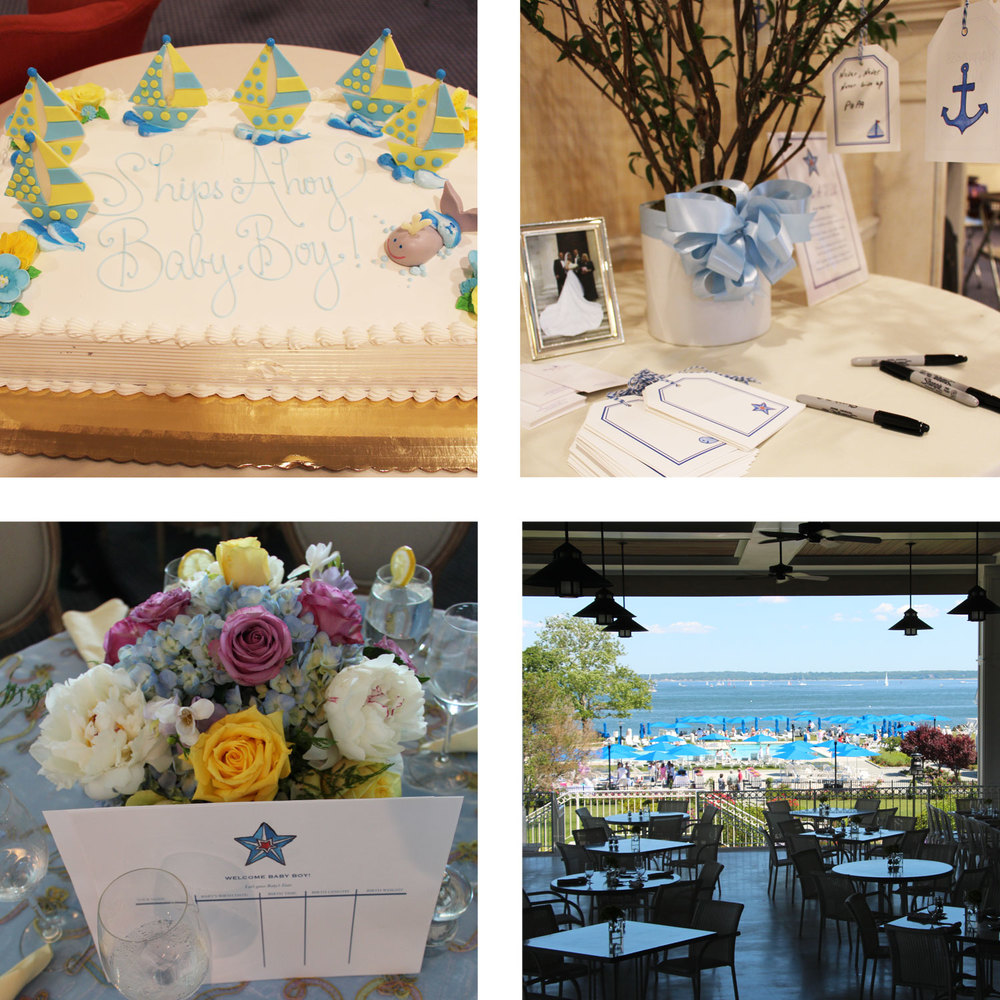 Details. Nautical accents from the notes, to the cake, tables and the Beach Point Club seaside.