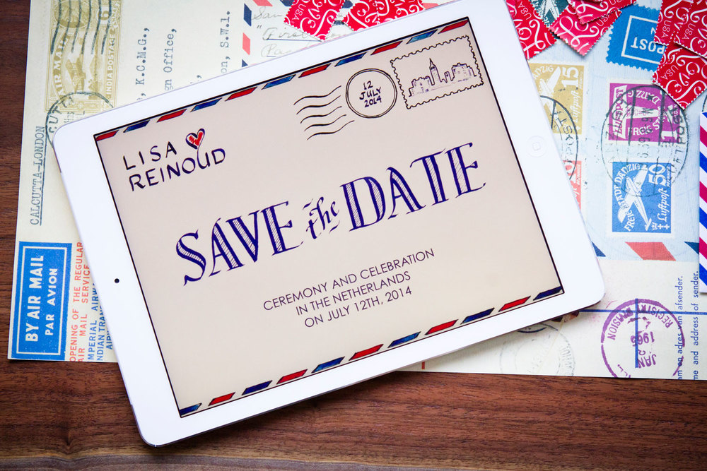 The LAURA ANN digital Save the Date allowed the couple to reach international guests at the same time.