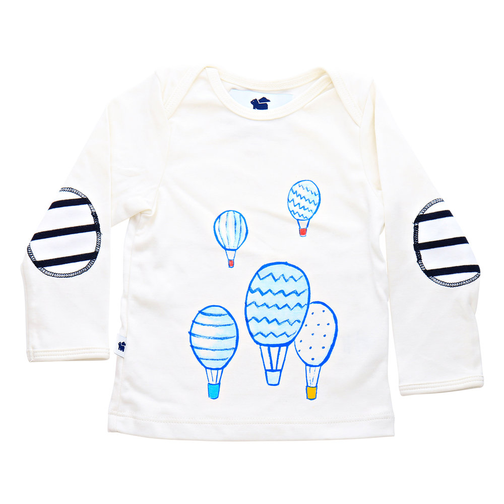 Shop  the Long Sleeve Graphic Tee (hot air balloons) at  Paper Cape .