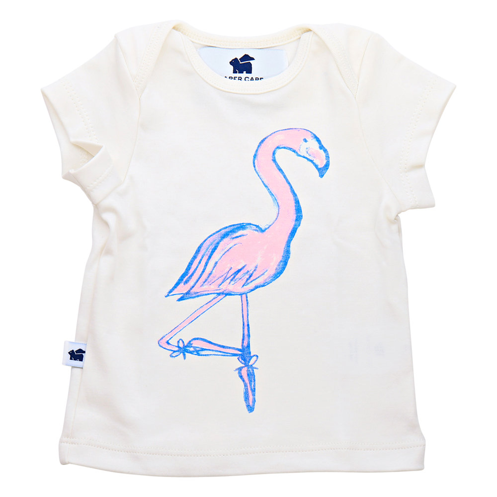 Shop  the Short Sleeve Graphic Tee (flamingo) at  Paper Cape .
