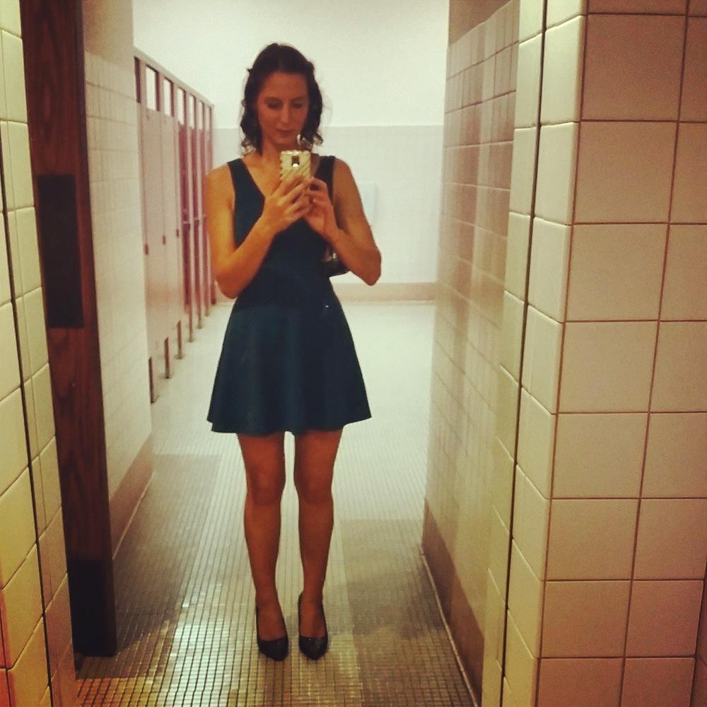 "Obligatory ""night out"" bathroom selfie."