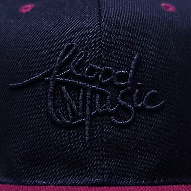 black on black ✨ just picked up Flood Music hats - up on our website soon! thank you @thediscovertee for the lovely embroidery
