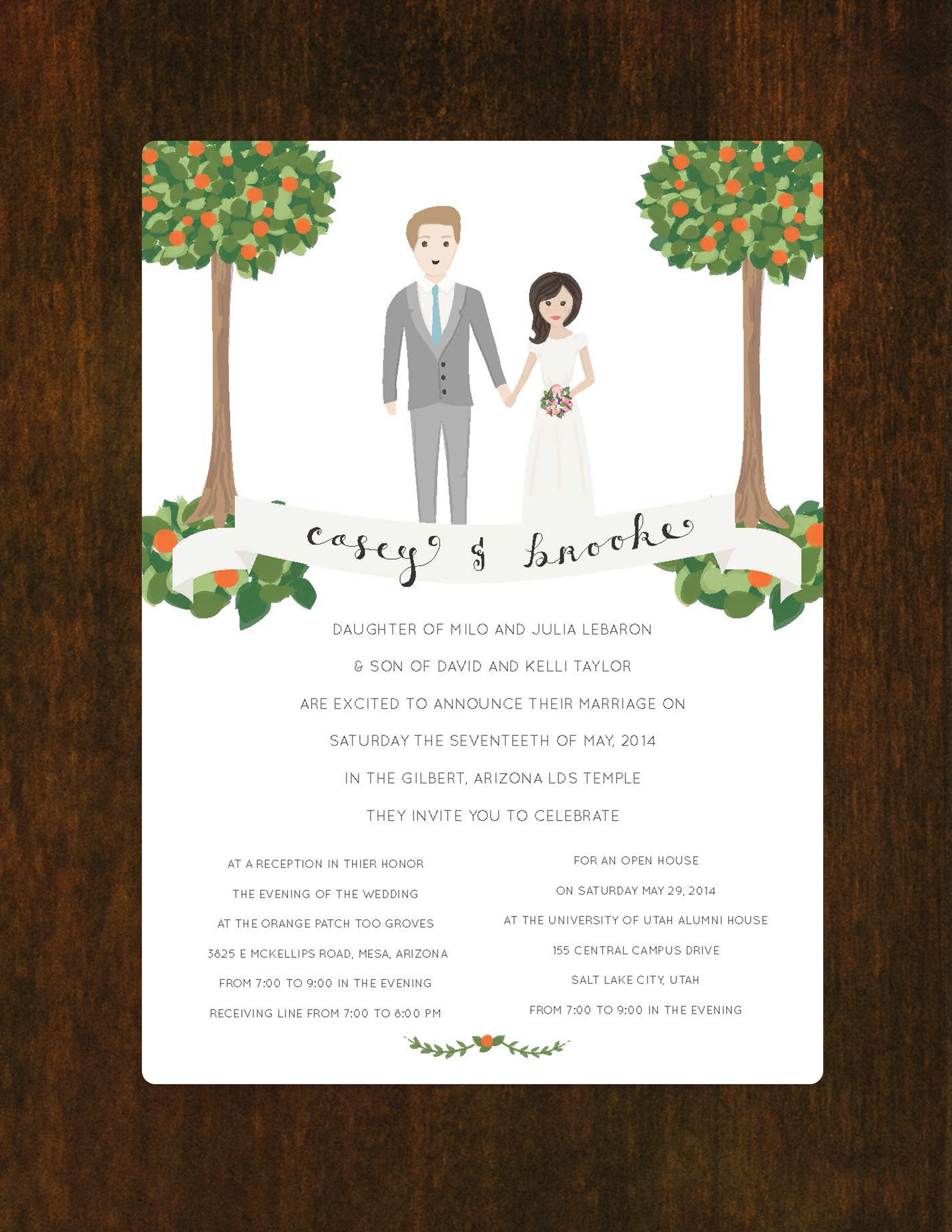 Wedding Invite Front