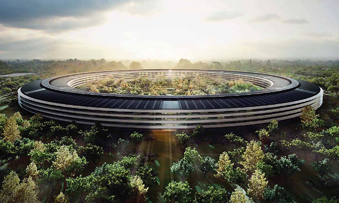 Apple's Campus 2. Artists rendering.