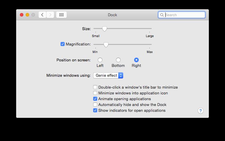Dock System Preference