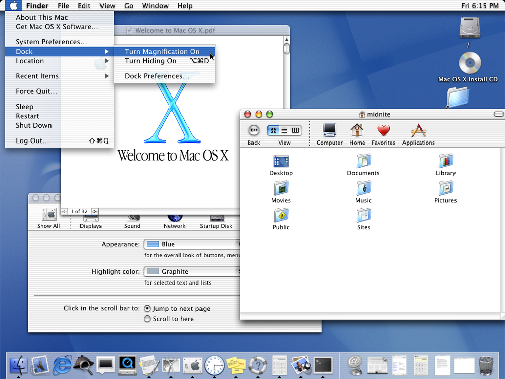 "Mac OS X v10.0 ""Cheetah"""