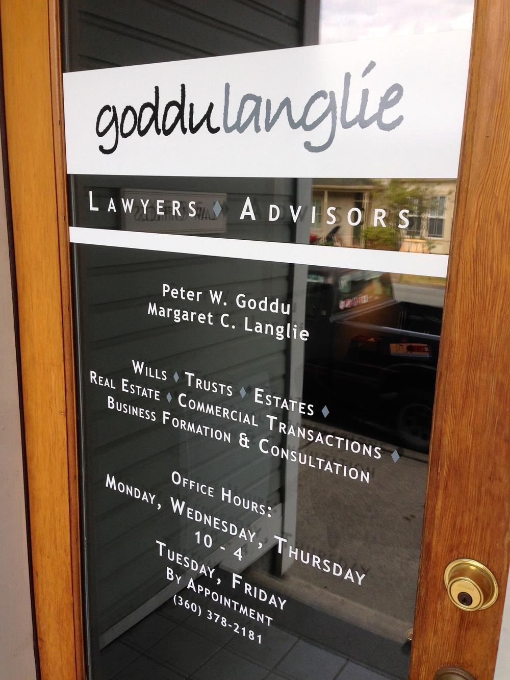GODDULANGLIE (door sign)